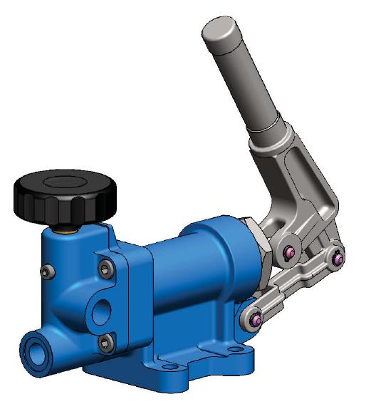 GLR系列双作用液压手动泵由意大利OLEODINAMICA GASPARINI s.r.l. 公司生产,在国内通过汉莎邓普(HansaTMP)和海伦(Heron)公司销售他们的产品。管路安装,带卸荷阀。